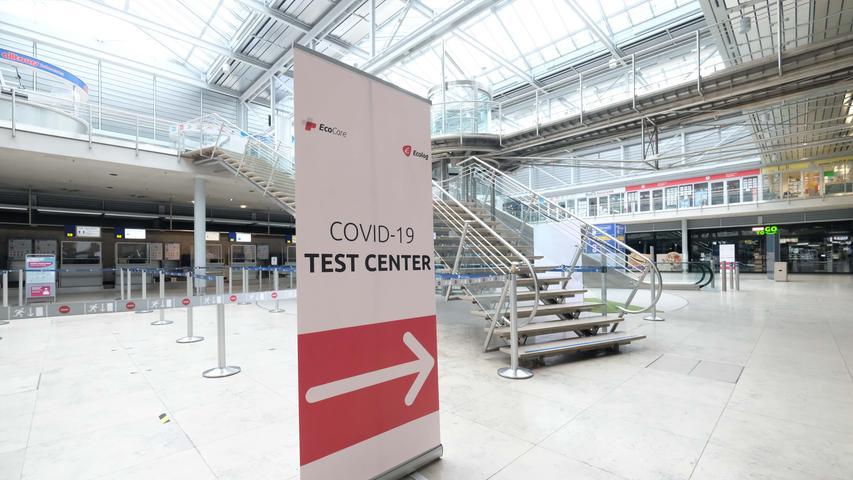 Gähnende Leere: So sieht es am Nürnberger Flughafen aus