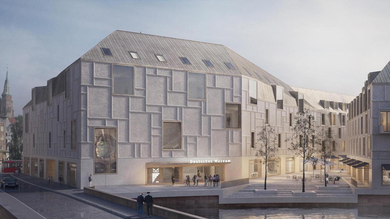 Ein Bau, der innen und außen die Zukunft darstellen soll, dessen Finanzierung in der Gegenwart aber heftig umstritten ist. Die ersten Exponate des Deutschen Museums sind zwar längst da, Eröffnung ist aber frühestens im Juli, wohl eher später.