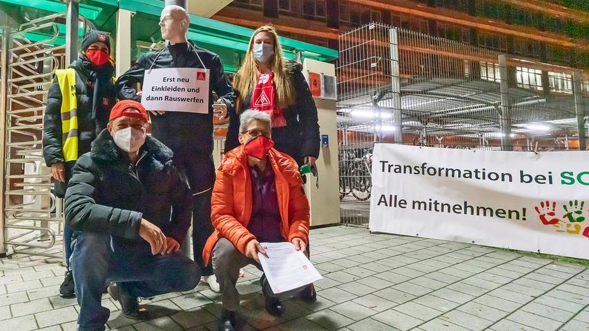Arbeitskampf bei Schaeffler: Mahnwache der Betriebsräte