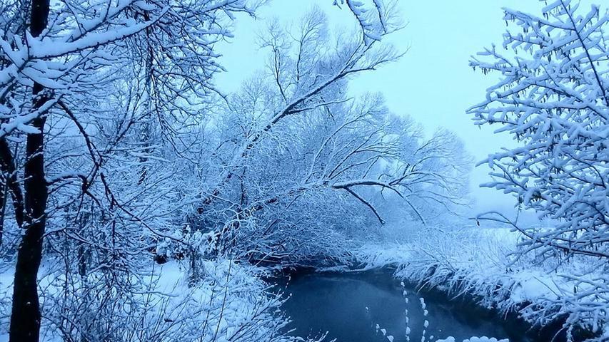 Winter und Schnee Treuchtlingen 08.02.2021 Schambach, nur von der Potschmühle aus Richting Schambach
