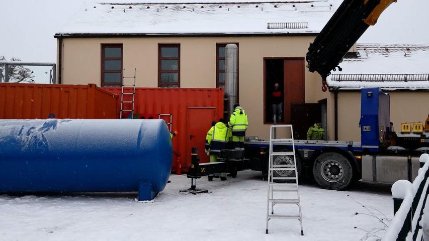 Nach Brand in Kraftwerk: Mobile Heizanlagen sollen für Wärme sorgen