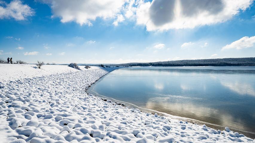 Das Spalter Hügelland in Schnee und Sonnenschein