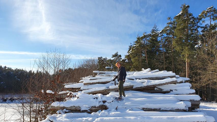 Winter-Kletterparcours bei Kreben