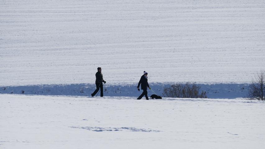 Spaziergang durch die Winterlandschaft bei Großhabersdorf