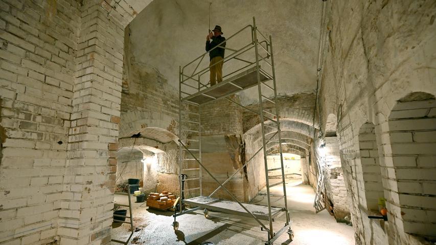 Baustart der Brauerei am Entlas-Keller