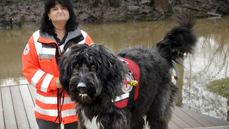 Sina hat eine feine Nase und wird sicher mal ein guter Flächenhund, meint die Leiterin der Rettungshundestaffel, Ute Wittig.