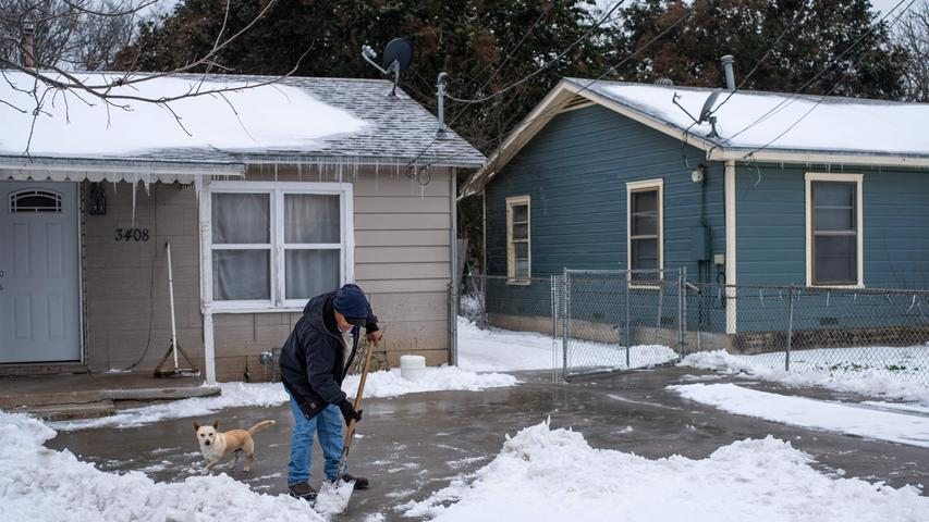 Chaos in den USA: Wintersturm fegt über Texas