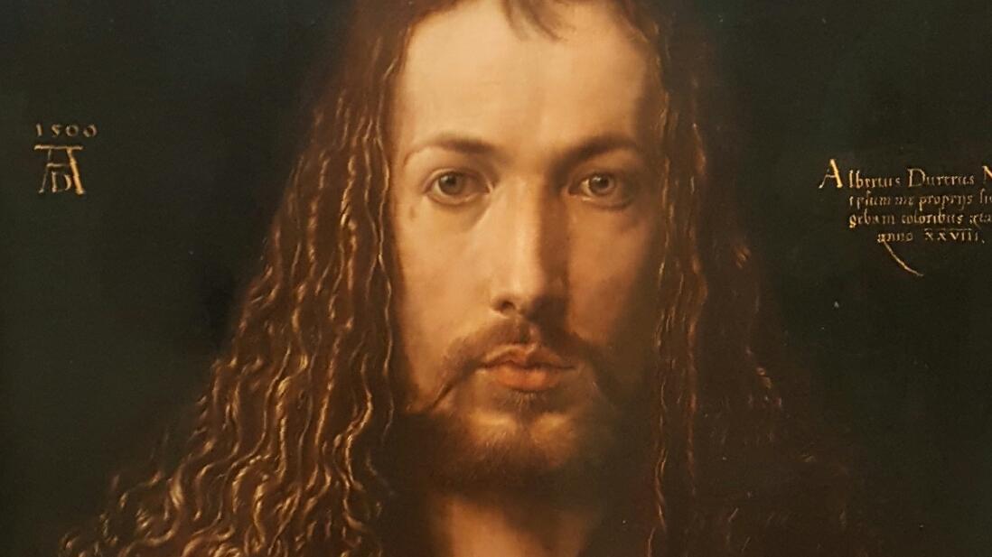 Das Selbstporträt Albrecht Dürers hängt in der Alten Pinakothek in München.