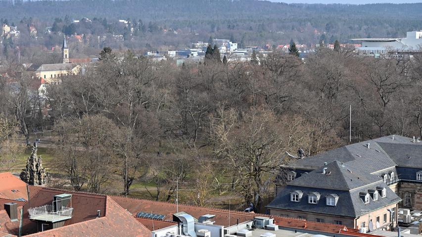 Blick in den Erlanger Schlossgarten.