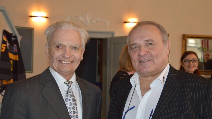 Seit Schulzeiten befreundet: Gymnasiallehrer Karlheinz Vogt und Walter Wagner.