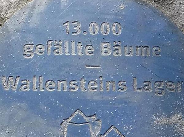 13 000 Bäume wurden für das Lager gefällt.