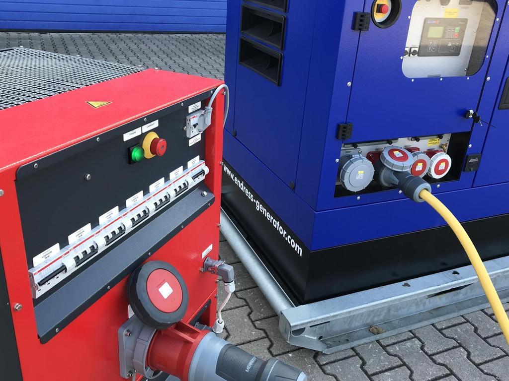 Mit kleineren Aggregaten wie diesem kann das THW seine eigene Zentrale versorgen oder etwa auch eine Tankstelle, um Einsatzfahrzeuge trotz Stromausfall zu betanken.
