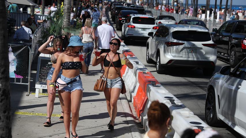 Überfüllte Strände trotz Corona: Tausende pilgern zum Springbreak nach Florida