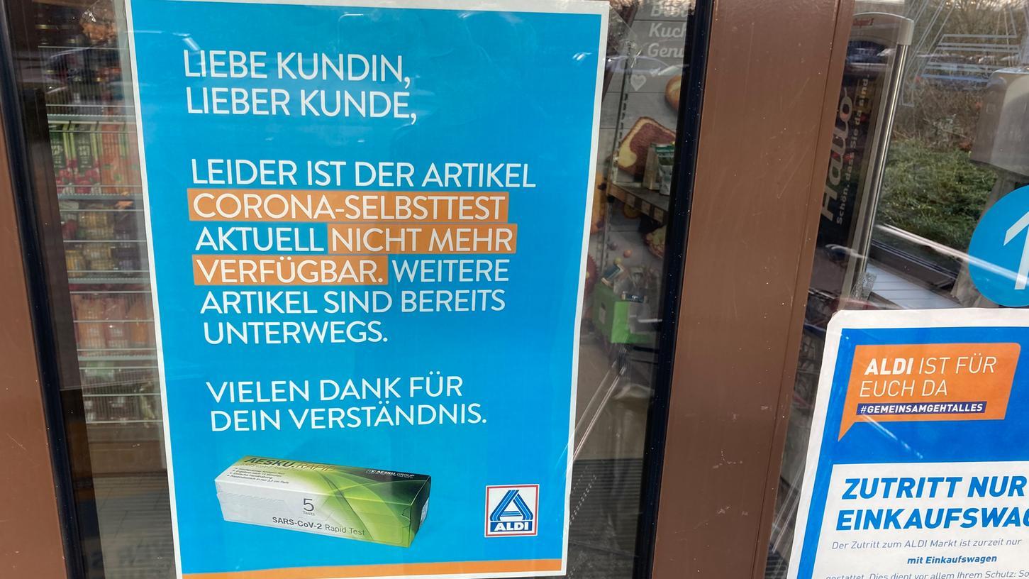 AuchAldi-Filialen verkaufen Corona-Schnelltests.