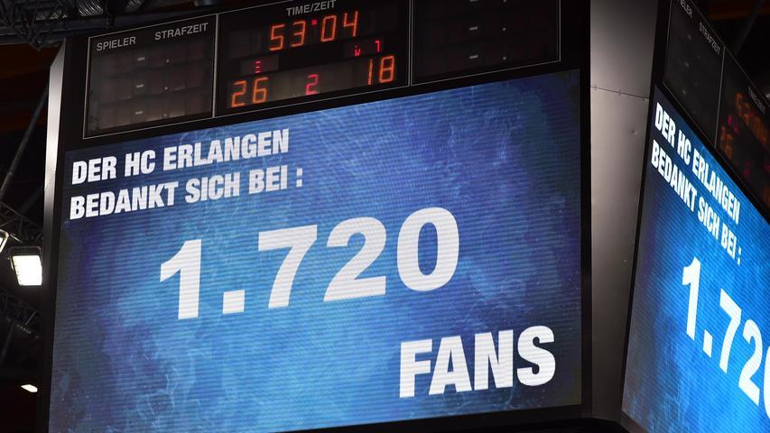 ...ist es nur noch ein paar Aufbauhelfern erlaubt, anzufeuern. Dennoch scheinen sich die Spieler in der Nürnberger Arena deutlich wohler zu fühlen als auswärts. 12 der 18 Punkte holten sie daheim.