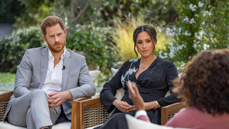 US-Moderatorin Oprah Winfreysprachmit Prinz Harry von Großbritannien und seiner Ehefrau Herzogin Meghan. Das Interview wurde bei CBS zur besten US-Sendezeit ausgestrahlt.