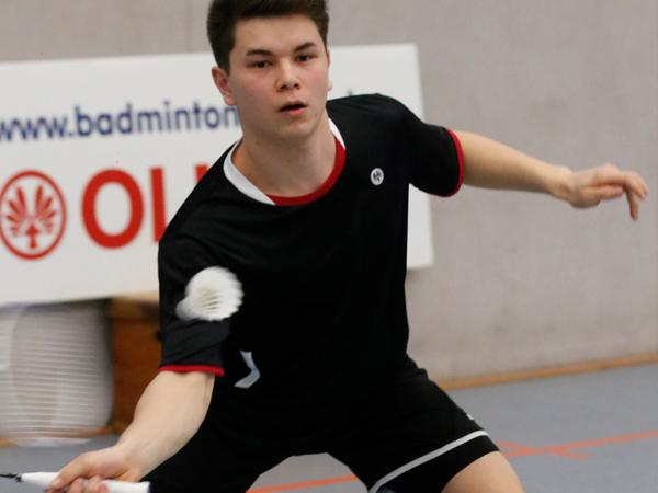 Badminton-Spieler David Persin.