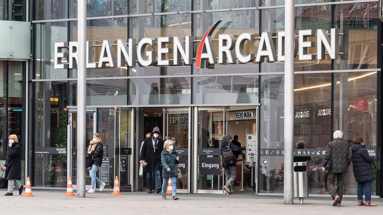 In Erlangen konnten Läden zumindest einige Tage ohne Termin-Absprachen öffnen.