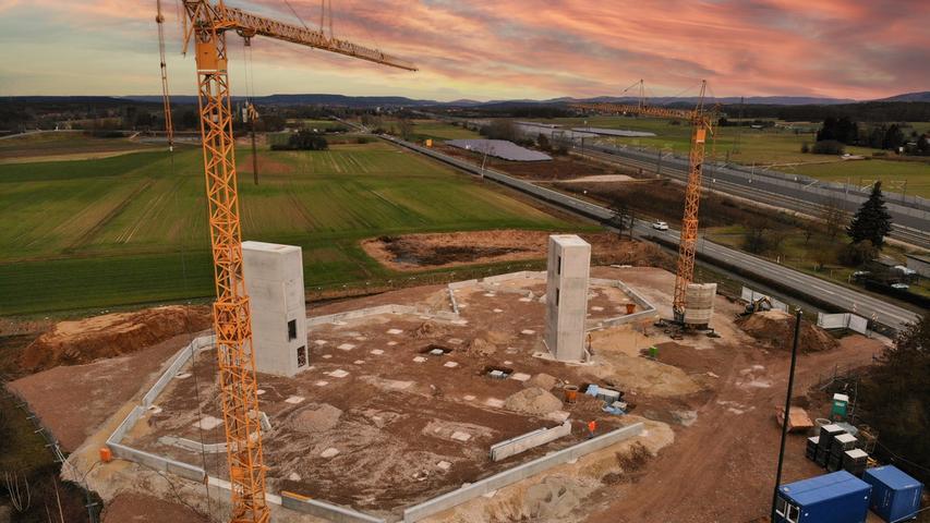 MOTIV: Baufortschritt der neuen Boulderhalle in Bubenreuth. FOTO: PR
