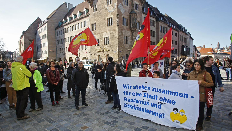 Im Vorjahr fielen die Aktionenaus, hier einFoto von 2019: Eine Kundgebung vor der Lorenzkirche im Rahmen der