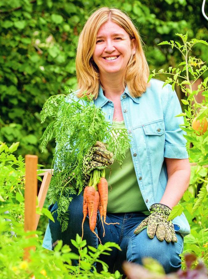 Doris Kampas ist ein echter Plfanzenprofi und versorgt sich fast ausschließlich mit selbst Angebautem aus ihrem Garten.