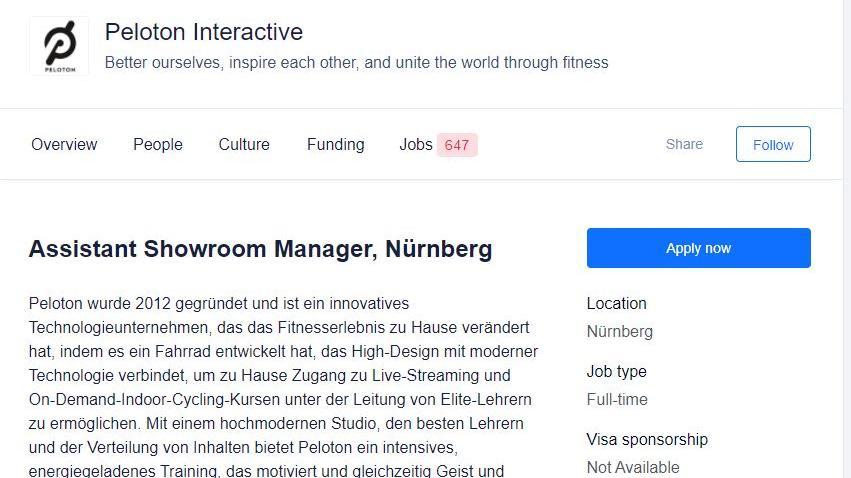 Ein deutlicher Hinweis für den Store: Im Netz sucht das Unternehmen bereits weitere Mitarbeiter für Nürnberg.