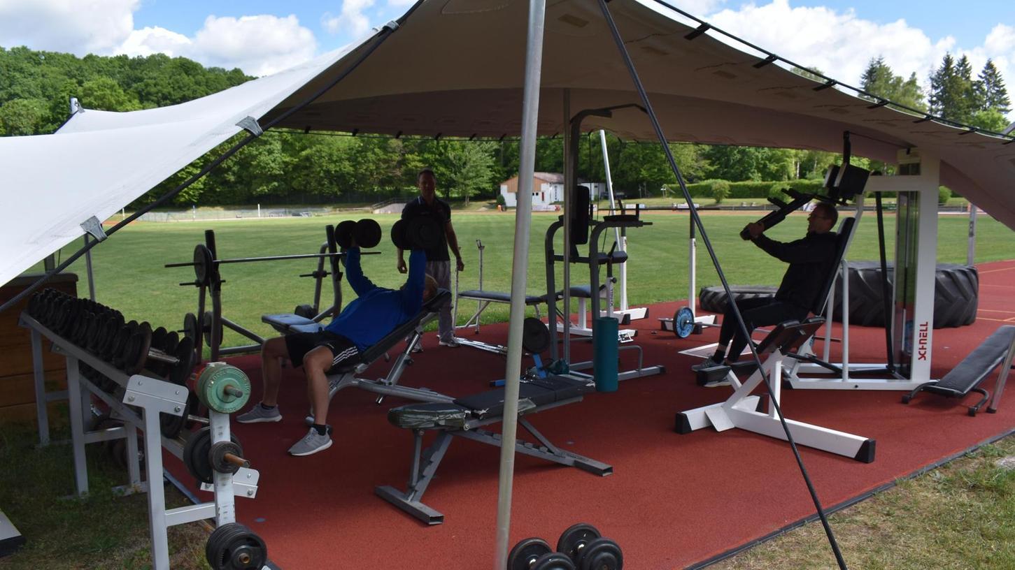 Wie schon im vergangenen Jahr verlagert der TV Gunzenhausen einen Teil seines Fitnessstudios nach draußen.