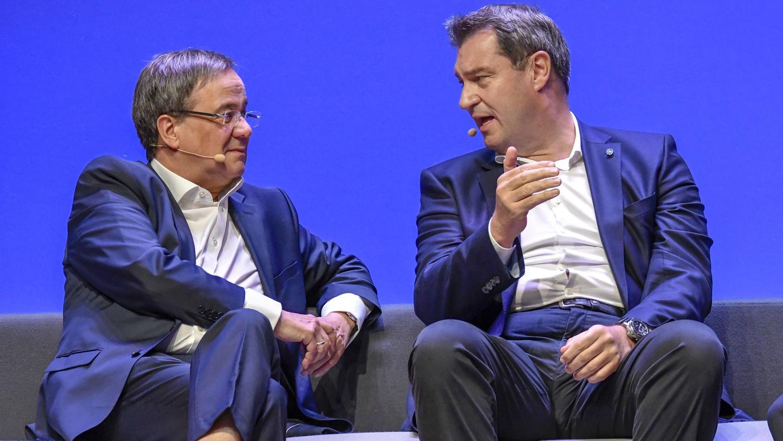 CDU-Vorsitzender Armin Laschet und Bayerns Ministerpräsident und CSU-Chef Markus Söder - wird einer der beiden der nächste Bundeskanzler?