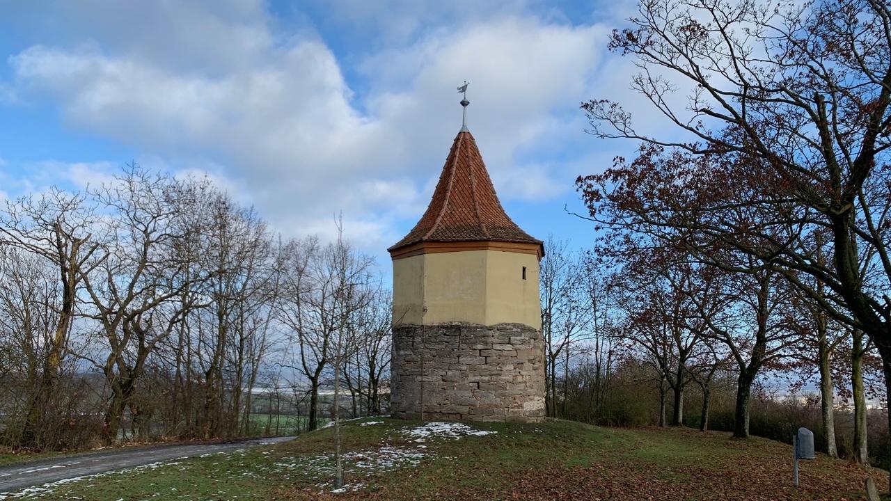 Der Bad Windsheimer Weinturm - manche vermuten, dass es sich hier um den Alten Turm handelt.