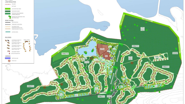So soll das Muna-Areal genutzt werden: Die neue Bebauung soll vor allem in der Mitte und in einem Streifen von Ost nach West erfolgen. Im Nordosten werden 35 Hektar komplett unberührt gelassen. Das gilt auch für einen Streifen zum See und die wichtigten Fledermausquartiere im Südwesten.
