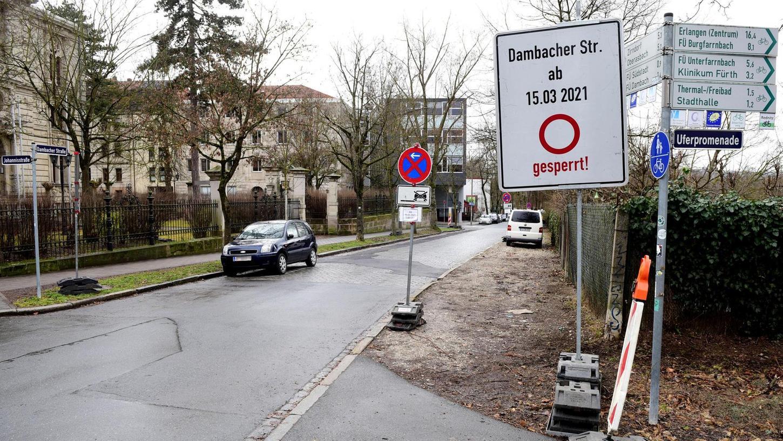Die Dambacher Straße wird in den kommenden Monaten zur Fahrradstraße umgebaut. Der ADFC wünscht sich mehr solcher Strecken für Radler in Fürth.