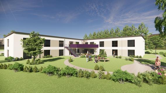 Hinter dem neuen Wohnangebot der Rummelsberger Diakonie am Treuchtlinger Brühl ist ein großer Garten mit Terrasse geplant.