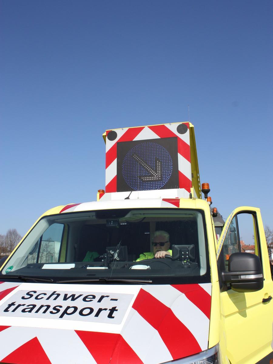 FOTO: 24.3.2021; Marianne Natalis MOTIV: Schulung Begleiter Schwertransport; Schießwasen; Gunzenhausen