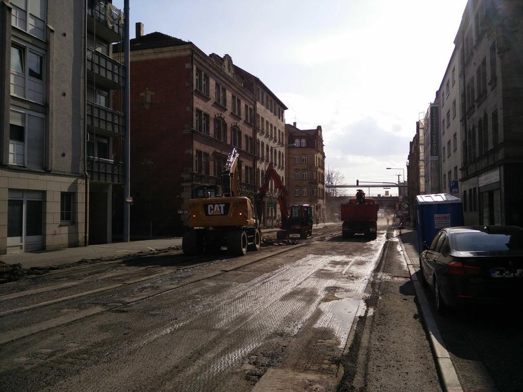 Bauarbeiten Rothenburger Straße