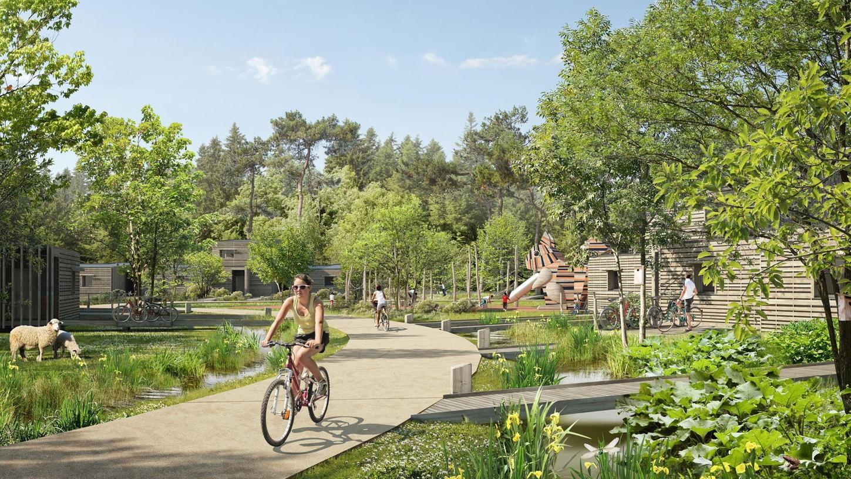 Ob im Muna-Wald am Brombachsee tatsächlich einmal Urlaub in einem Ferienpark von Center Parcs gemacht werden kann, wie hier bei der Präsentation des Masterplans so idyllisch dargestellt, darüber entscheidet Ende Mai die Bevölkerung Pfofelds im Rahmen eines Bürgerentscheids.