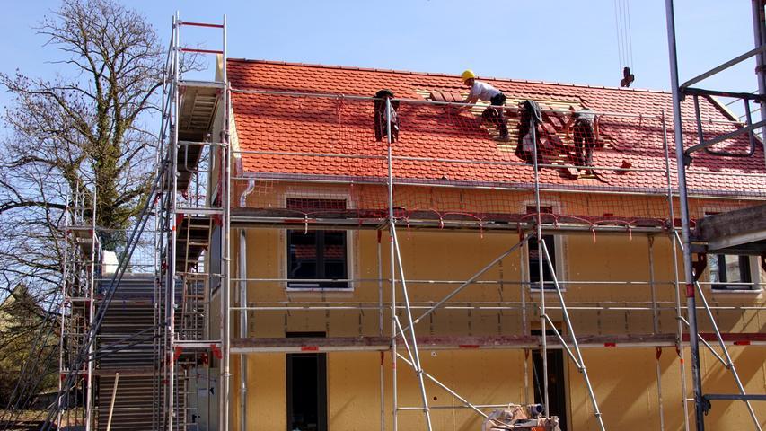 Büchelbergerei Aufbau der Bungalows 29. 3. 2021 Foto: Horst Kuhn