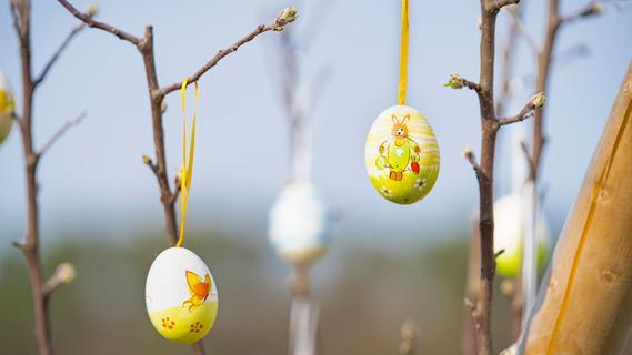 Großenseebacher Kinder auf den Spuren des Osterhasen