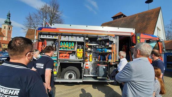 Neues Löschfahrzeug der Michelfelder Feuerwehr angekommen