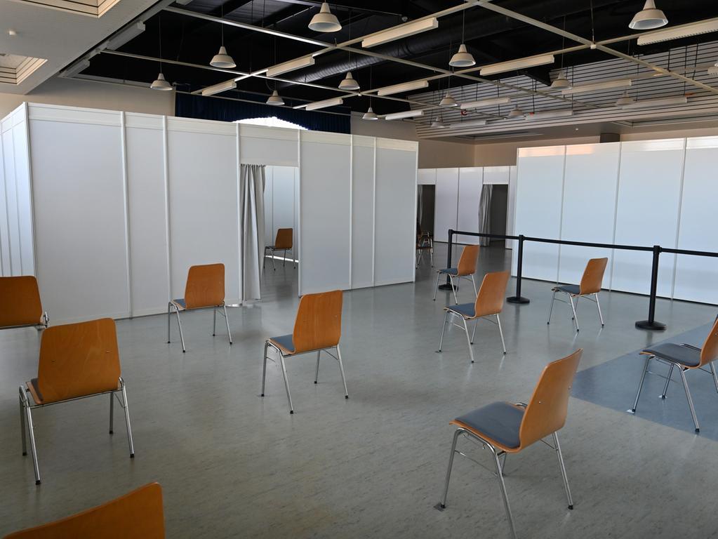 So sieht es in der Georg-Hänfling-Halle aus, in der ab Mittwoch nach Ostern gegen Covid-19 geimpft werden soll.