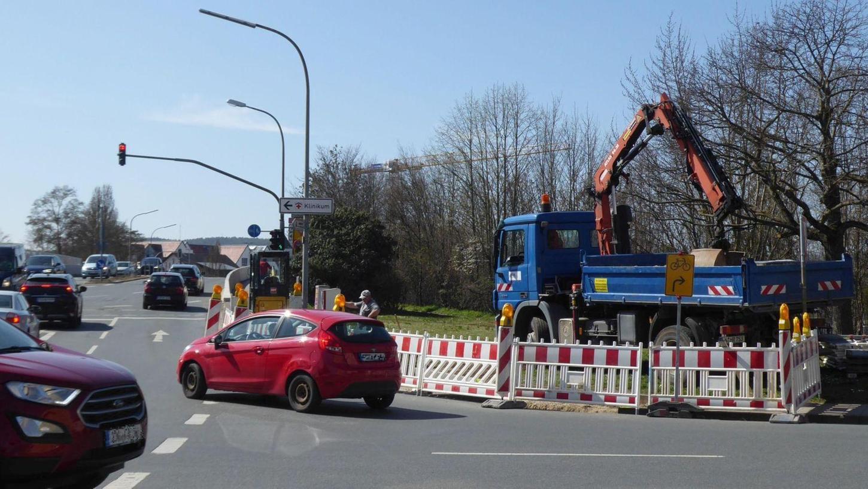 Die Kreuzung an der Hainstraße ist für Radfahrer eine Herausforderung.