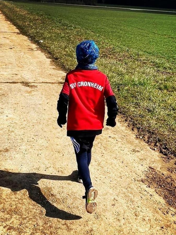 Auch die Kleinsten waren mit Feuereifer dabei – nicht nur beim SV Cronheim. Die Heizomat-Hetzner-Challenge hat Mitglieder aller Altersgruppen und Sparten zum Laufen animiert.