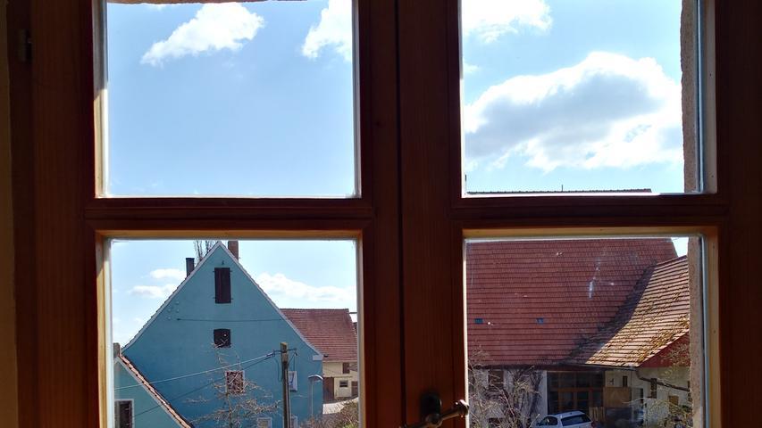 Frühling im Lockdown: Blick aus dem Fenster.