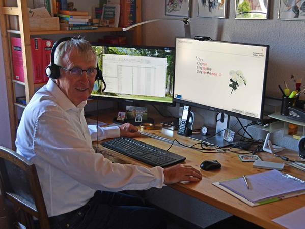 Siegbert Rudolph war seiner Zeit voraus, als er 2008 sein digitales Leselern-Training entwickelte.