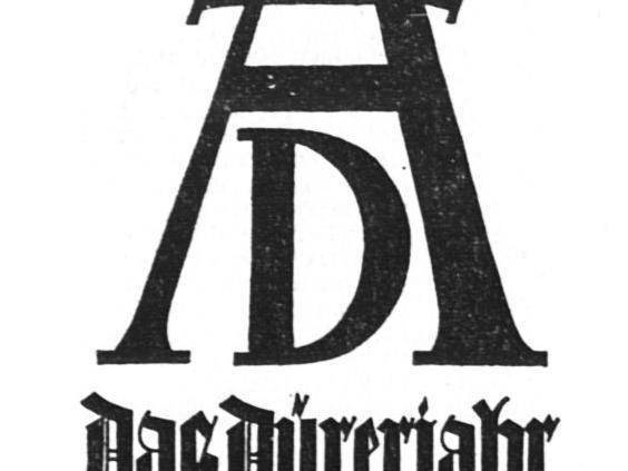 Das offizielle Dürer-Plakat 1928.