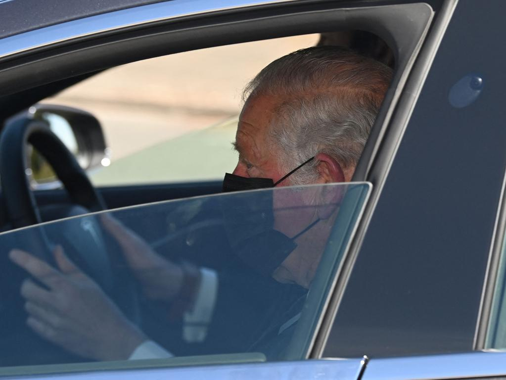 Prinz Charles kommt in Windsor an.
