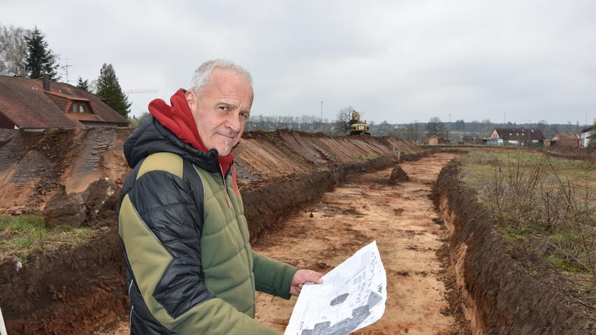 Kein Goldschatz: Was schlummert im Boden der Rother Baumgartenwiesen?