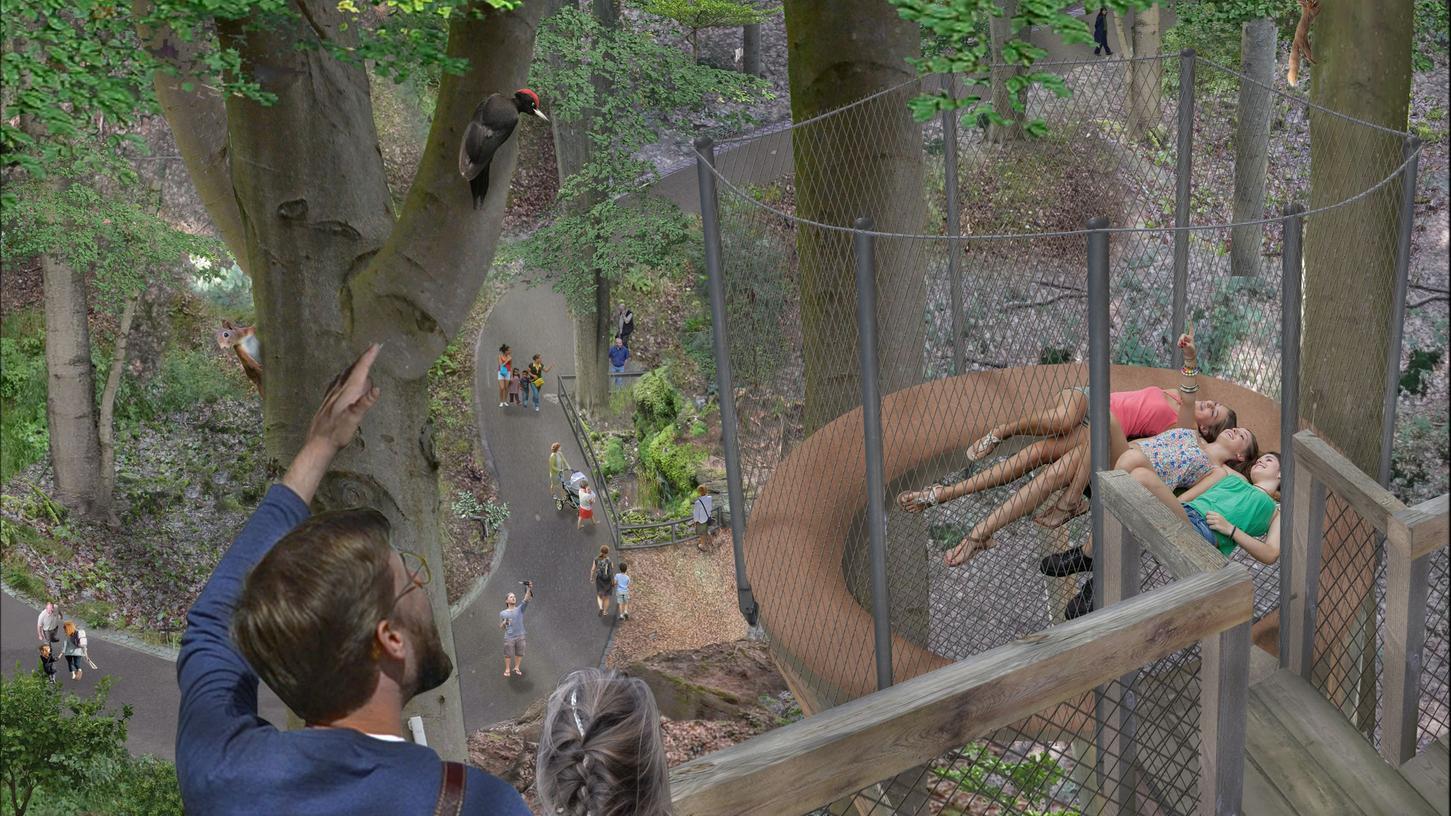 So wie in dieser Simulation soll der Ausblick vom Waldpfad aus einmal sein.