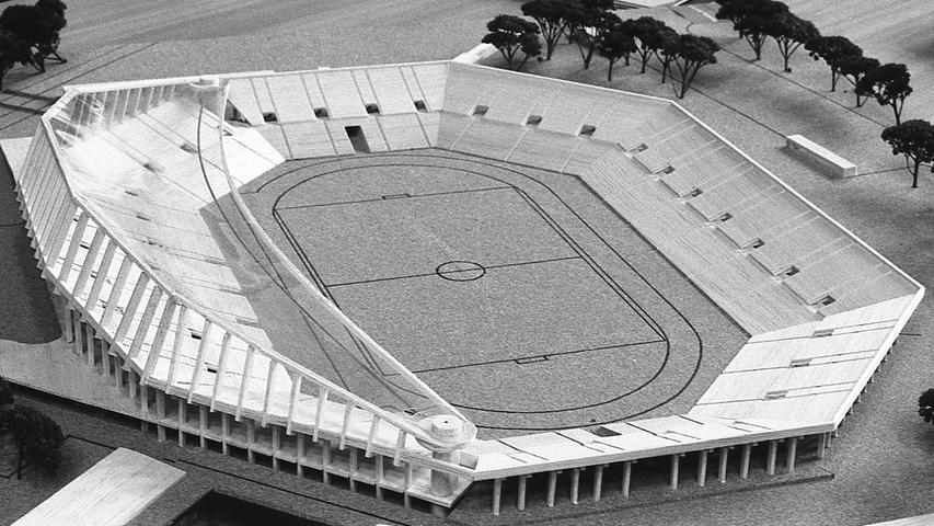 Der Favorit des Baureferenten: das Modell mit dem Schalen-Dach. Durch weitere Überarbeitung soll sein Preis noch gedrückt werden. Hier geht es zum Kalenderblatt vom 22. April 1971.