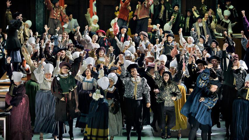 Massenszenen, wie sie zum Beispiel in Wagners