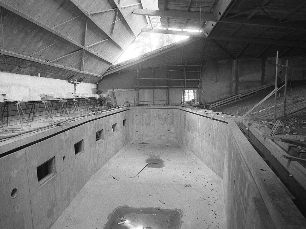 Länger als in Duisburg: das Hauptbecken der Nürnberger Anlage, in dem die Delphine genügend Anlauf für ihre Sprünge nehmen können.